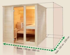 sauna ma e cm genau. Black Bedroom Furniture Sets. Home Design Ideas